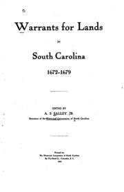 Warrants for lands in South Carolina, 1672-1711