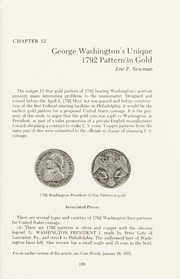 George Washington's Unique 1792 Pattern in Gold