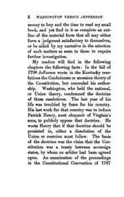 washington vs jefferson Although president washington warned against the nation falling into political factions, the different views of the constitution held by alexander.