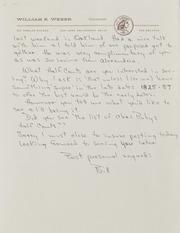 Bill Weber Correspondence