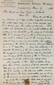 Wharton nickel planchet agreement
