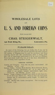 Picture of Steigerwalt, Charles [Fixed Price List]