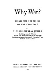 essays about war peace