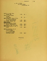 William A. Gaede Invoices from B.G. Johnson, January 5, 1940