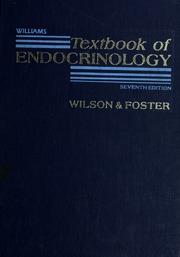 Williams Textbook of endocrinology : Williams, Robert Hardin