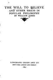 will to believe william james pdf