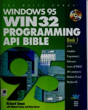 Windows 95 WIN 32 programming API bible : Richard J  Simon : Free