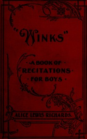 Winks; a book of recitations for boys
