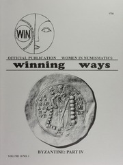 Winning Ways: Official Publication of Women in Numismatics, vol. 10, no. 1