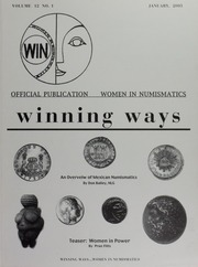 Winning Ways: Official Publication of Women in Numismatics, vol. 12, no. 1