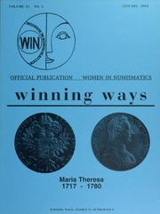 Winning Ways: Official Publication of Women in Numismatics, vol. 13, no. 1
