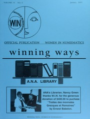 Winning Ways: Official Publication of Women in Numismatics, vol. 14, no. 1