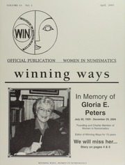 Winning Ways: Official Publication of Women in Numismatics, vol. 14, no. 2