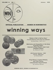 Winning Ways: Official Publication of Women in Numismatics, vol. 15, no. 1