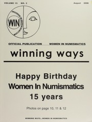 Winning Ways: Official Publication of Women in Numismatics, vol. 15, no. 3
