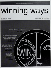Winning Ways: Official Publication of Women in Numismatics, vol. 16, no. 1