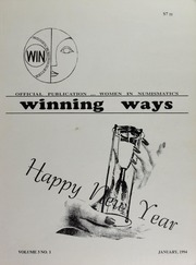 Winning Ways: Official Publication of Women in Numismatics, vol. 3, no. 1