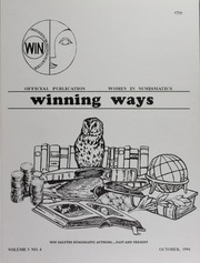 Winning Ways: Official Publication of Women in Numismatics, vol. 3, no. 4