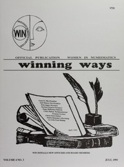Winning Ways: Official Publication of Women in Numismatics, vol. 4, no. 3