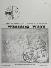 Winning Ways: Official Publication of Women in Numismatics, vol. 5, no. 1