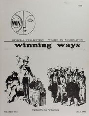 Winning Ways: Official Publication of Women in Numismatics, vol. 5, no. 3