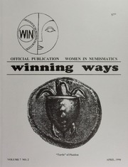 Winning Ways: Official Publication of Women in Numismatics, vol. 7, no. 2