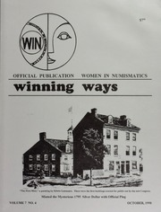 Winning Ways: Official Publication of Women in Numismatics, vol. 7, no. 4