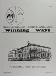 Winning Ways: Official Publication of Women in Numismatics, vol. 8, no. 3