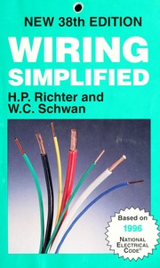 wiring simplified richter h p herbert p 1900 1978 free rh archive org Easy Wiring Diagrams Basic Electrical Wiring Diagrams