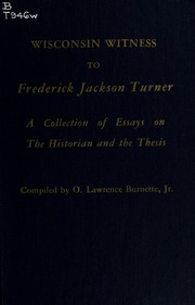 Frederick jackson turner thesis text