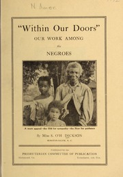 Within our doors : our work among the Negroes