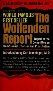 Wolfenden report on prostitution and homosexuality