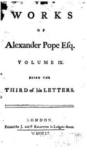 Joseph warton essay on pope