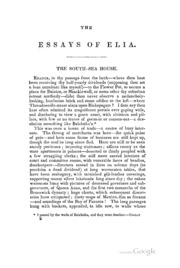 charles lamb essays A humble clerk with the east india company for much of his life, charles lamb (1775-1834) came into his own writing essays under the phantom cloud of elia this.