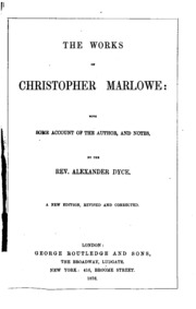 a biography and the work of christopher marlowe an english author Examine the life, times, and work of christopher marlowe through detailed author biographies on enotes.