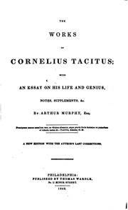 essay on tacitus The works of cornelius tacitus: with an essay on his life and genius, notes, supplements, &c item preview.
