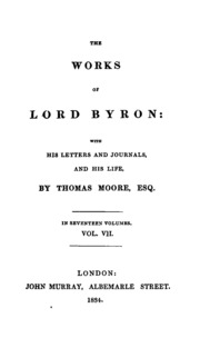 work and life of lord george gordon byron Lord byron (1788-1824) by family life george gordon byron was born in london on 22 george gordon, baron, the works of lord byron (1833) byron, george gordon.