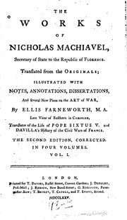 niccolo machiavelli writings