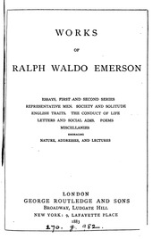 ralph waldo emerson selected essays lectures and poems Ralph waldo emerson: selected essays, lectures and poems by ralph waldo emerson starting at $3567 ralph waldo emerson: selected essays, lectures and poems has 0.