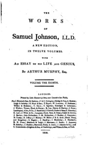 samuel johnson selected essays Samuel johnson, one of the most prolific and esteemed essayists, critics, and  lexicographers in english history, was born to a bookseller and his w.