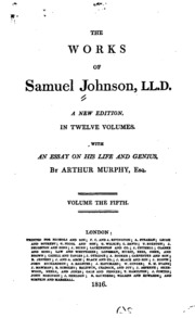 samuel johnson selected essays sparknotes Samuel johnson in context samuel johnson was an extraordinarily productive writer and thinker in the eighteenth century he's actually among the most influential voices in the period, covering a.