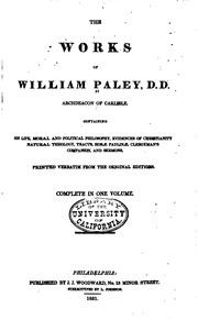 Paley natural theology pdf