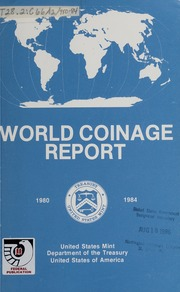 World Coinage Report, 1980-1984