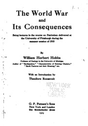 War and its consequences essay