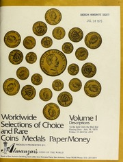 Worldwide selections of choice and rare coins, medals, paper money ... [07/18/1975]