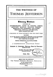 the writings of thomas jefferson Get this from a library the writings of thomas jefferson [thomas jefferson andrew a lipscomb albert ellery bergh thomas jefferson memorial association of the.