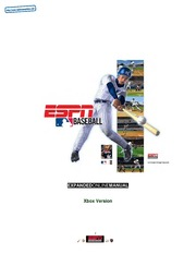 XBOX Manual: ESPN Major League Baseball - Enhanced Manual