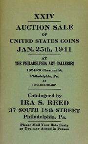 XXIV. Auction sale of United States coins ... at the Philadelphia Art Galleries ... [01/25/1941]