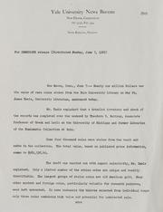 Yale University Theft Correspondence, 1965 and 1995