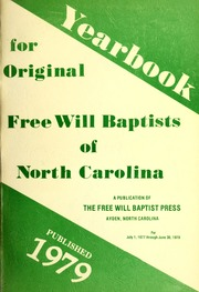 Yearbook for Original Free Will Baptists of North Carolina